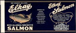#ZLCA310 - Elkay Red Alaska Sockeye Salmon Can Label - Chicago, IL