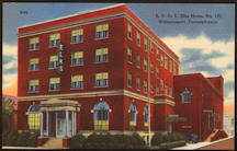 #ZZZ111 - B. P. O. E. Elks Home No. 173 linen postcard - Williamsport, PA