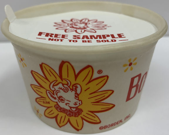 #DA100  - Nice Old Elsie Free Sample Waxed Ice Cream Cup