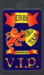 ##MUSICBP0734 - Elton John OTTO Laminated Backstage VIP Pass from the 1995 Made in England Tour