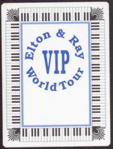 ##MUSICBP0029  - 1995 Elton John and Ray Cooper cloth OTTO Backstage Pass from the World Tour