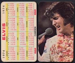 ##MUSICBG0097  - 1974 Elvis RCA Pocket Calendar