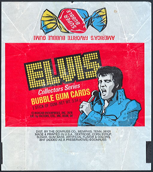 #ZZA256 - 1978 Elvis Trading Card Wrapper