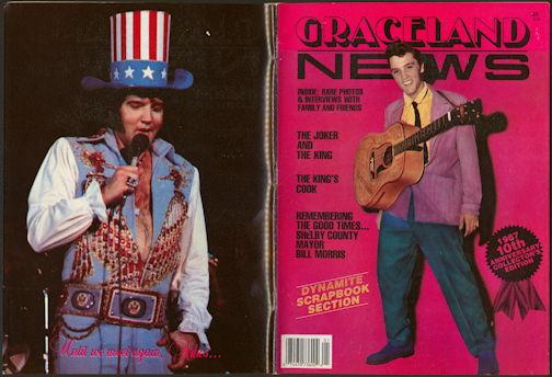 ##MUSICBG0103 - 1987 Elvis Presley 10th Anniversary Graceland News Magazine - Collector's Edition