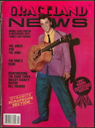 ##MUSICBG0103 - Group of 12 1987 Elvis Presley 10th Anniversary Graceland News Magazines - Collector's Edition