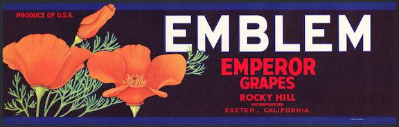#ZLSG081 - Emblem Grape Crate Label - Poppies