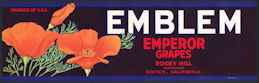 #ZLSG081 - Emblem Grape Crate Label - Poppies