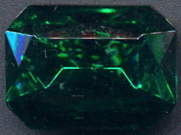 #BEADS083 - Large 25mm Octagon Czech Emerald Colored Glass Rhinestone