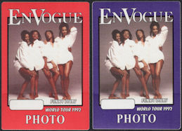 ##MUSICBP0669 - Pair of En Vogue OTTO Backstage Passes from the 1992 Funky Divas Tour