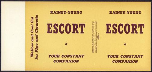 #ZLT034 - Escort Pipe/Cigarette Tobacco Box Label