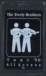 ##MUSICBP0163 - Everly Brothers Laminated All Access OTTO Backstage Pass for the 1990 Tour