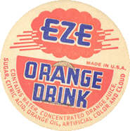 #DC109 - EZE Orange Drink Cardboard Dairy Bottle Cap
