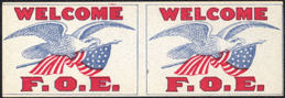 #SIGN119 - Group of 12 Rare Early F.O.E. Paper Flags (no pin or toothpick)