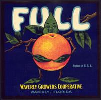 #ZLC307 - Full Brand Orange Crate Label