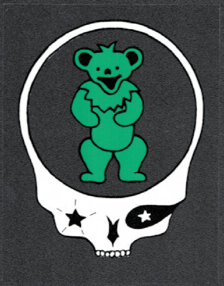 ##MUSICBP2012 - Grateful Dead Car Window Tour Sticker/Decal - Bear and Steal Your Face Skull