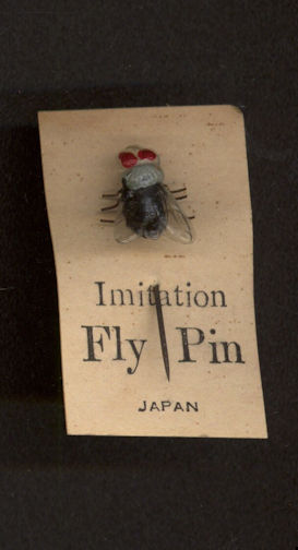 #TY573 - Very Old Japanese Imitation Fly on Original Card - As low as $1 each