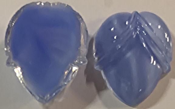 #BEADS0878 - Fancy 15mm Teardrop Shaped Saphire Blue Moonstone Glass Cabochon