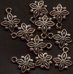 #BEADS0296 - Group of 10 Fancy Metal Filigree Charms