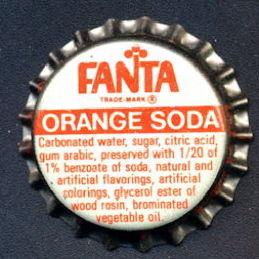 #BC164 - Group of 10 Fanta Orange Soda Caps - Coca Cola