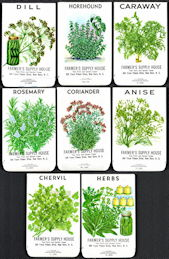 #CE150 - Group of Eight Different Farmer's Supply House Herb Seed Packs