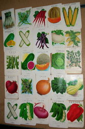 #CE151 - Group of Twenty Five Different Farmer's Supply House Fruit and Vegetable Seed Packs
