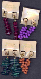 #BEADS0482 - Pair of Carded Fashion Earrings - As low as 50¢