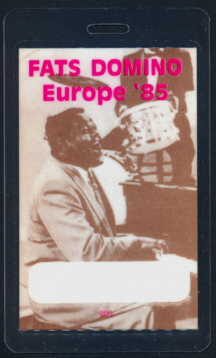 ##MUSICBP0258  - Rare 1985 Fats Domino Laminated Backstage Pass from the 1985 European Tour