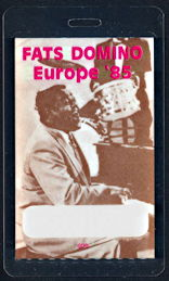 ##MUSICBP0258  - Rare 1985 Fats Domino Laminated OTTO Backstage Pass from the 1985 European Tour
