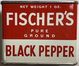 #CS427 - Full Unopened Tin of Fischer's Pure Ground Black Pepper