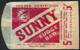 #PC106 - Sunny 5¢ Fudge Bar Frozen Confection Bag