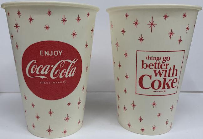 #CC012 - Coca Cola Paper Cup with Snowflake Logo