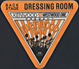 ##MUSICBP0329  - 1987 Fleetwood Mac Tango Tour OTTO Backstage Pass
