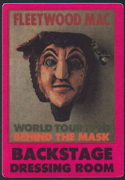 ##MUSICBP0273 - Group of 3 Different Colored Large Fleetwood Mac OTTO Cloth Backstage Dressing Room Pass from the 1990 Behind the Mask Tour