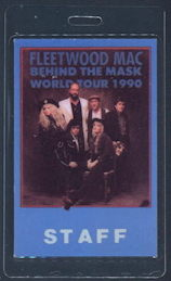 ##MUSICBP0153 - Fleetwood Mac OTTO Laminated Backstage Pass from 1990 Behind the Mask Tour - As low as $3.50 each