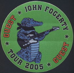 ##MUSICBP0407 - John Fogerty OTTO Cloth Backstage Pass from the 2005 Deja Vu All Over Again Tour