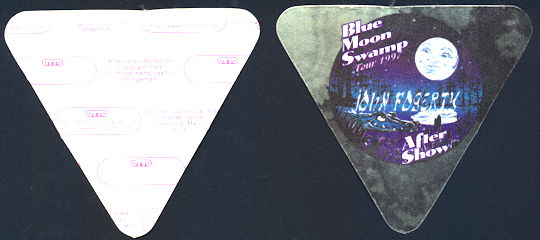 ##MUSICBP0135 - John Fogerty OTTO Cloth backstage pass from the Blue Moon Swamp Tour