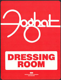 ##MUSICBG0134 - Foghat OTTO  Dressing Room Door Sign from the 1981 Girls to Chat & Boys to Bounce Tour