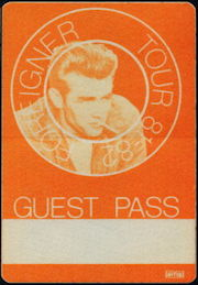 "##MUSICBP0359 - 1981 Cloth Backstage Pass from the Foreigner ""4"" Tour with James Dean Picture"