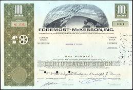 #ZZCE081 - Foremost-McKesson, Inc. Stock Certificate