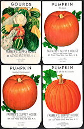 #CE149 - Group of Four Different Farmer's Supply House Pumpkin/Gourd Seed Packs