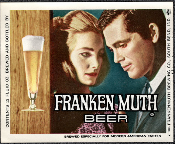 #ZLBE122 - Franken Muth (not Frankemuth) Beer Bottle Label
