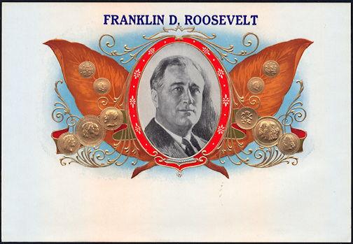 #ZLSC092 - Franklin D. Roosevelt Inner Cigar Box Label