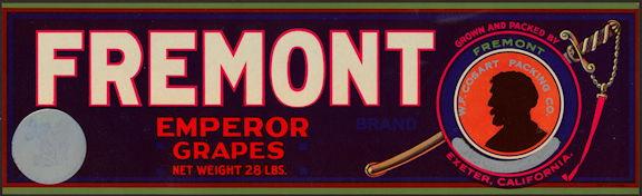 #ZLSG093 - Fremont Emperor Grapes Crate Label