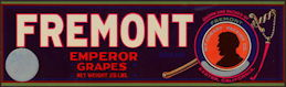 #ZLSG093 - Fremont Emperor Grapes Crate Label