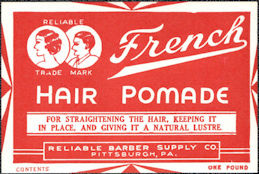 #ZBOT218 - French Hair Pomade Jar Label - Deco Design