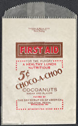 #PC105 - Group of 12 First Aid Choco-A-Choo 5¢ Chocolate Snack Bags