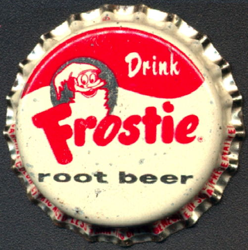 #BC117 - Frostie Root Beer Bottle Cap with Frostie Man
