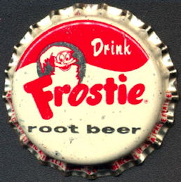 #BC117 - Group of 10 Frostie Root Beer Bottle Caps with Frostie Man