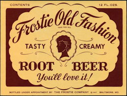 #ZLS052 - 1947 Frostie Old Fashion Root Beer Label
