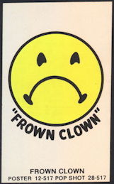 "#MSH035 - Frown Clown Mini Black Light ""Poster"""